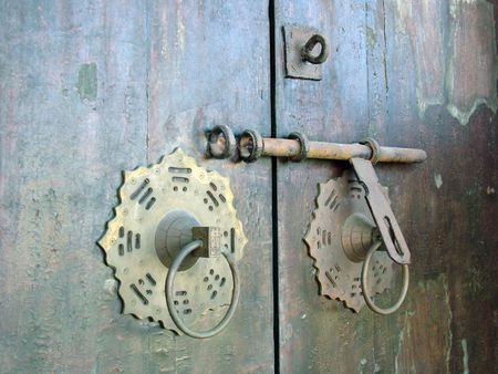 Ancient Chinese Door Lock