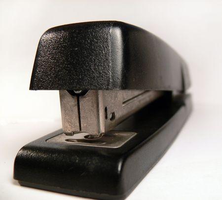 Black Stapler on White Background photo
