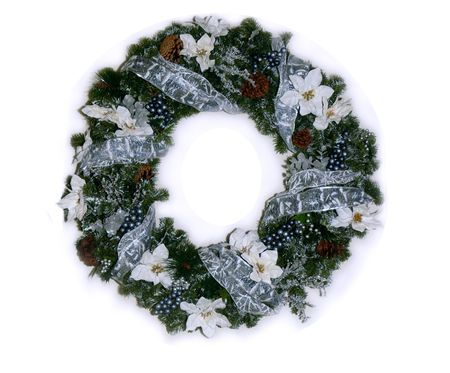Isolated Christmas Wreath