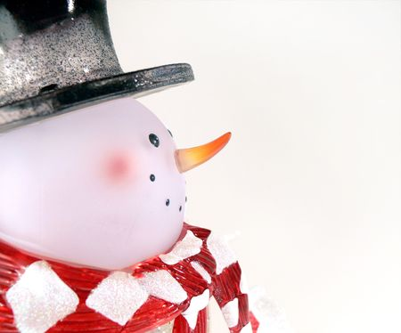 Frosted Glass Snowman Stock Photo