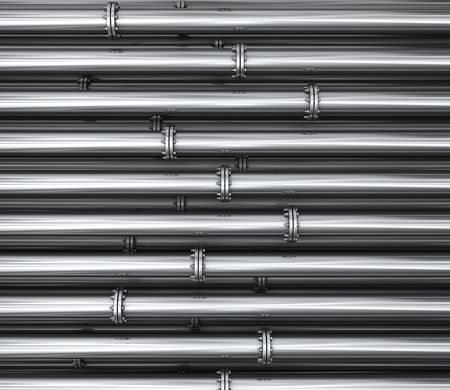 a whole lot of nice shiny silver pipes filling the entire frame Stock Photo - 7805022