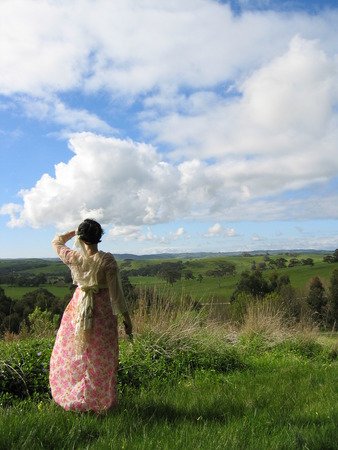 Lady And the Valley Stock Photo - 1631509