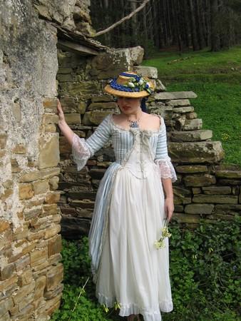 Lady amongst the ruins photo