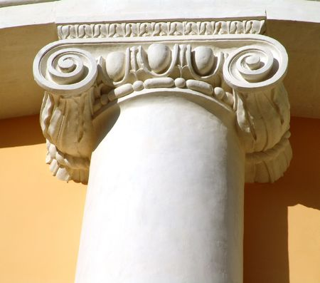 Top of a classical column, Arkhangelskoe, near Moscow Stock Photo - 386187