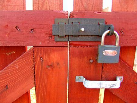 A locked gate photo