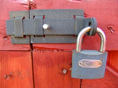 A locked gate closeup photo