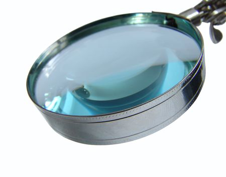 A magnifying glass closeup photo