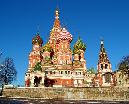 kreml: A view of the St. Basils Cathedral, Russia, Moscow Stock Photo