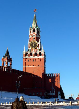 kreml: A view of the Spasskaya (Savior) tower, Moscow, Russia
