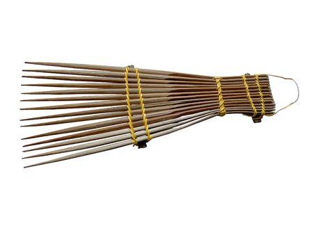 needle tip: An african-style hairbrush Stock Photo