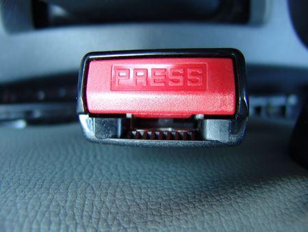 drive safely: A car seatbelt lock