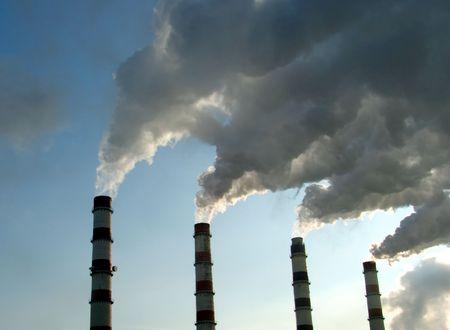 Heating centrale smoking tubes Stock Photo - 577595
