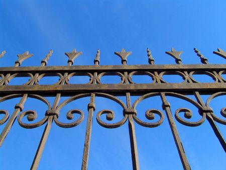 no pase: Un decorado de bronce esgrima