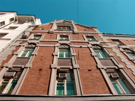 A brick house view, Moscow Stock Photo - 597793