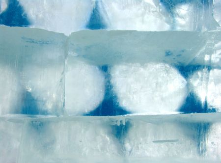 northpole: Ice blocks of an ice wall