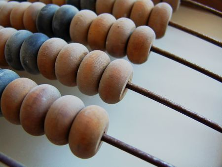 abaci: An old wooden abacus