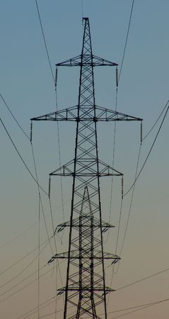 A high voltage transmission line Stock Photo - 883555