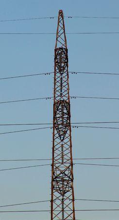 isolator insulator: A power pole detail Stock Photo