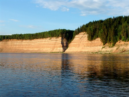 the silence of the world: Rocky cliffs next to a river