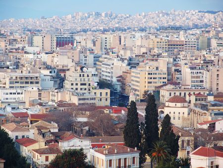 A high view of the Athens city in Greece Stock Photo - 1860505