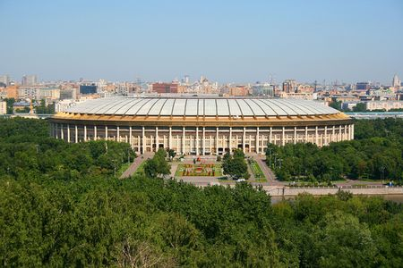 One of the main stadiums in Moscow photo