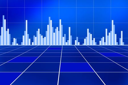 Business and stock market chart concept with various graphs going up and down photo