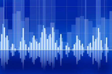 column chart: Business and stock market chart concept with various graphs going up and down Stock Photo