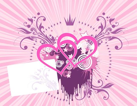 Pink heart background Stock Photo - 1066649