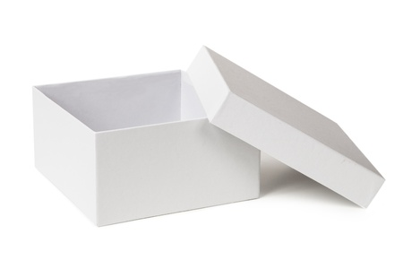 packer: Open box isolated on a white background