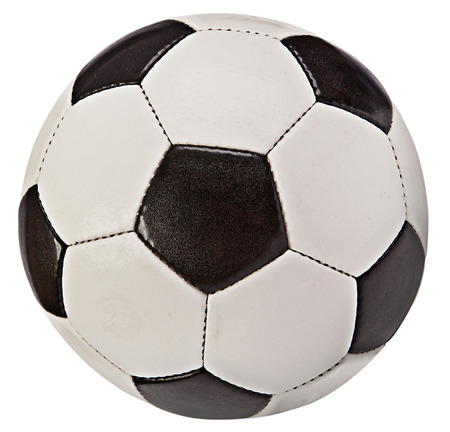 ballon foot: Ballon de football isol� sur fond blanc