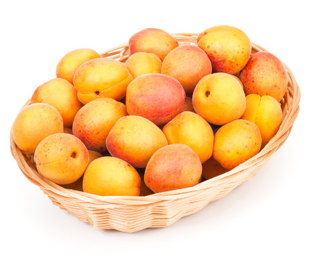 foodstill: Apricots isolated on white background Stock Photo