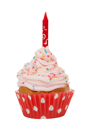 isolated spot: Cupcake isolated on white background