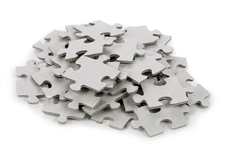 jigsaw piece: Puzzle isolated on white background