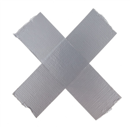 duct: Duct repair tape silver Stock Photo