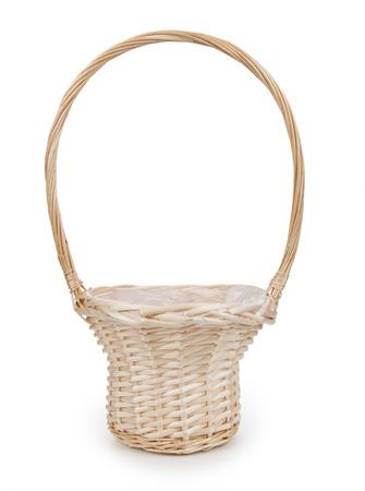empty basket: Basket isolated on white background
