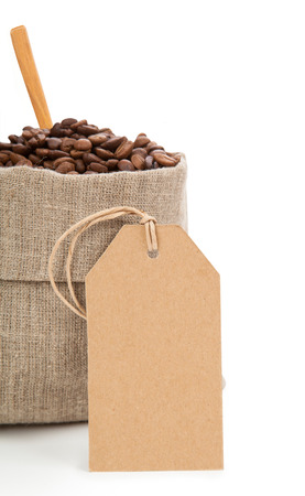 large bean: Coffee in bag and carton labels