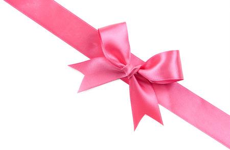 mo�o rosa: lazo rosa aisladas en blanco Foto de archivo