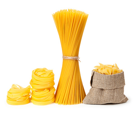 collection: Pasta isolated on white background