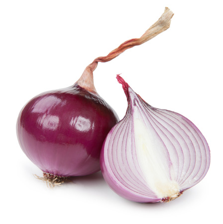 brown white: onion isolated on white background