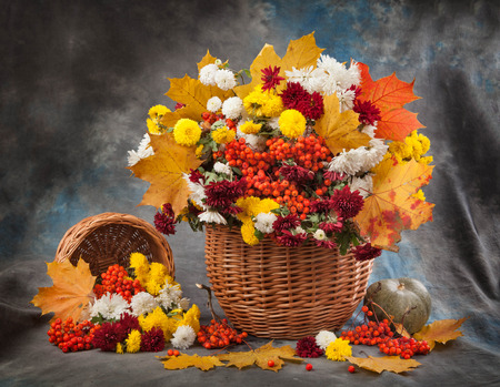 colorful still life: Autumn bouquet flower Stock Photo