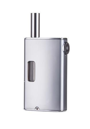 vaporized: Electronic Cigarette isolated on a white background. Stock Photo