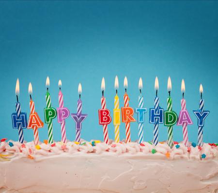 velitas de cumpleaños: Velas del feliz cumpleaños Foto de archivo