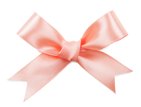 pink bow: Pink bow isolated on white background