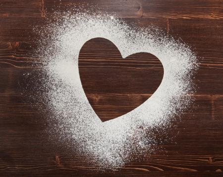 flour: El corazón de la harina sobre la mesa