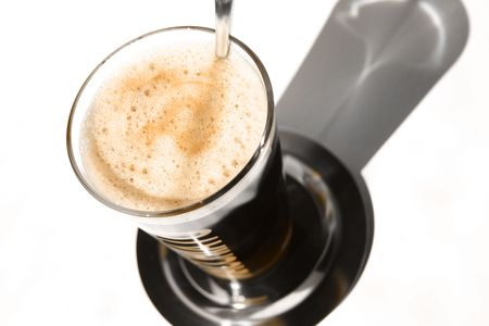caf: Coffee in a glass Stock Photo