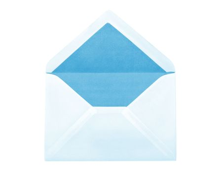 addressed: Blue envelope photo, isolated