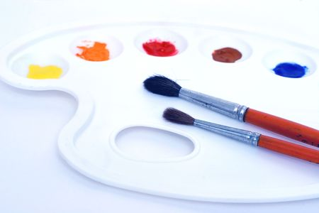 Painter's palette and paintbrushes Stock Photo - 283660