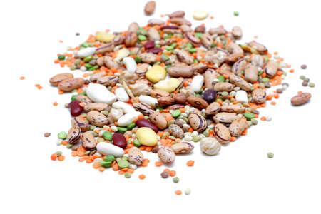 leguminosas: Mezcla de leguminosas: guisantes, lentejas, habas y garbanzos