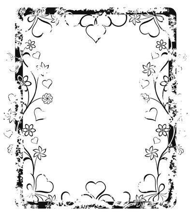 Grunge valentine frame (border) Stock Photo - 288479
