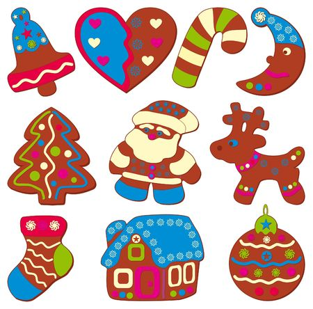 deer in heart: Celebratory or christmas cookies